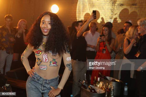 Kitty Cash poses at Bacardi X The Dean Collection Present No Commission Berlin on June 29 2017 in Berlin Germany