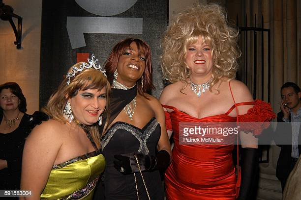 Kitty Coco Pebbles and Farrah Moan attend Out 100 Awards at Capitale on November 11 2005 in New York City