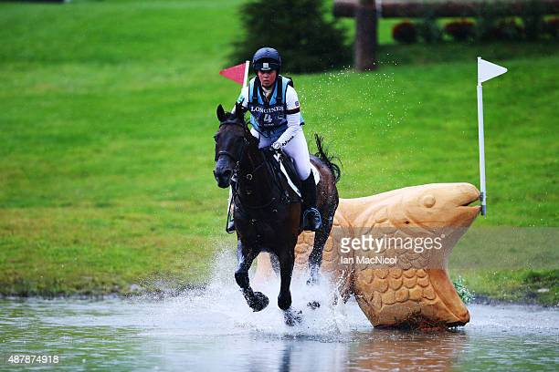 Kitty King of Great Britain competes on Persimmon during the Longines FEI European Eventing Championship 2015 at Blair Castle on September 12 2015 in...