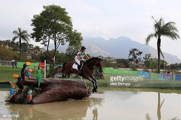 Kitty King of Great Britain riding Ceylor L A N competes during the Cross Country Eventing on Day 3 of the Rio 2016 Olympic Games at the Olympic...