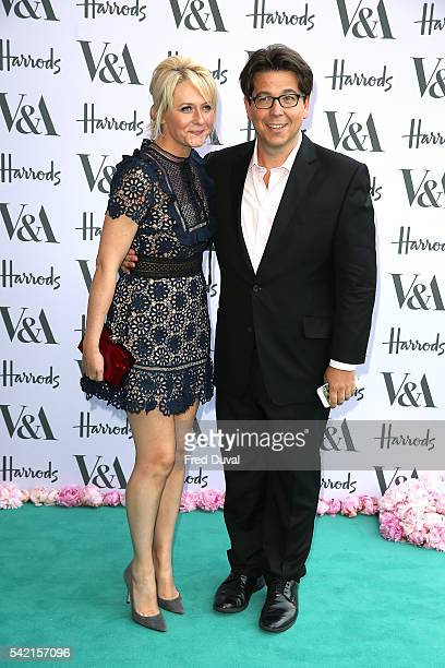 Kitty McIntyre and Michael McIntyre arrive for the VA Summer Party at Victoria and Albert Museum on June 22 2016 in London England