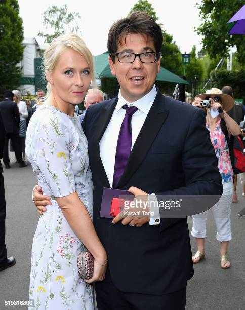 Kitty McIntyre and Michael McIntyre attend day 13 of Wimbledon 2017 on July 16 2017 in London England