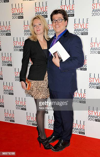 Kitty McIntyre and Michael McIntyre attend the ELLE Style Awards 2010 at Grand Connaught Rooms on February 22 2010 in London England