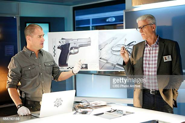 """Kitty"""" -"""" Nick Stokes and D.B. Russell examine some evidence that could be key to the murder of a prominent casino owner's wife, on CSI: CRIME SCENE..."""