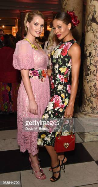 Kitty Spencer and Emma Weymouth attend a private view of 'Frida Kahlo Making Her Self Up' at The VA on June 13 2018 in London England