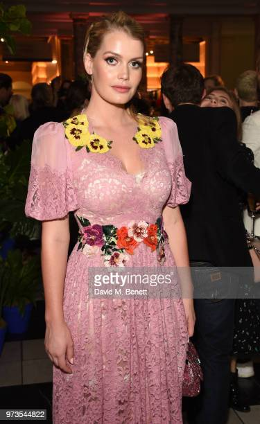Kitty Spencer attends a private view of 'Frida Kahlo Making Her Self Up' at The VA on June 13 2018 in London England