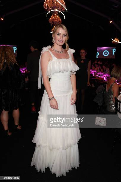 Kitty Spencer attends BVLGARI Dinner Party at Stadio dei Marmi on June 28 2018 in Rome Italy