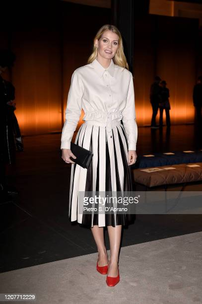 Kitty Spencer attends the Tod's fashion show on February 21, 2020 in Milan, Italy.