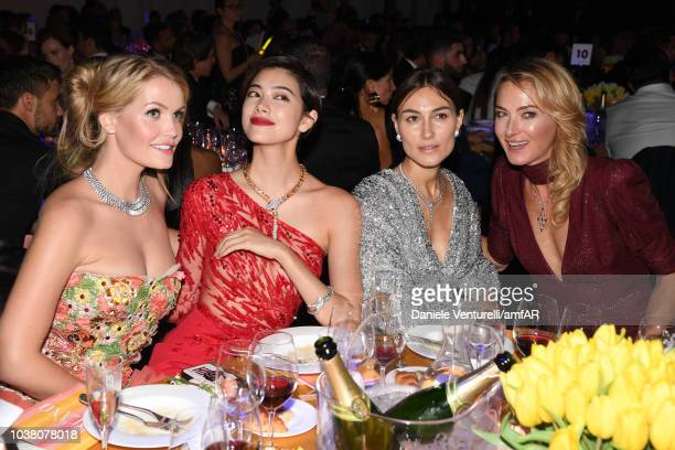 Kitty Spencer Hikari Mori Giorgia Tordini and Princess Lilly Zu Sayn Wittgenstein Berleburg attend amfAR Gala dinner at La Permanente on September 22...