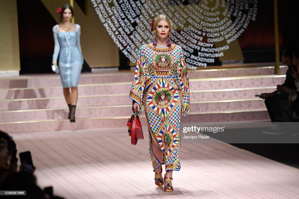 Dolce & Gabbana - Runway - Milan Fashion Week Spring/Summer 2019 : News Photo