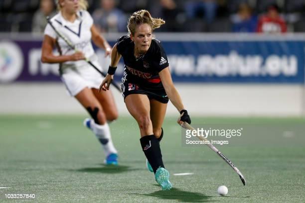 Kitty van Male of Amsterdam Dames 1 during the Hoofdklasse Women match between Amsterdam v Pinoke at the Wagener Stadium on September 14 2018 in...