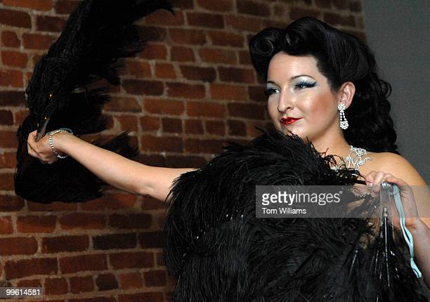 Kitty Victorian performed a fan dance at Sonoma during a book party for local author Kelly DiNardo's biography of burlesque legend Lili St Cyr...