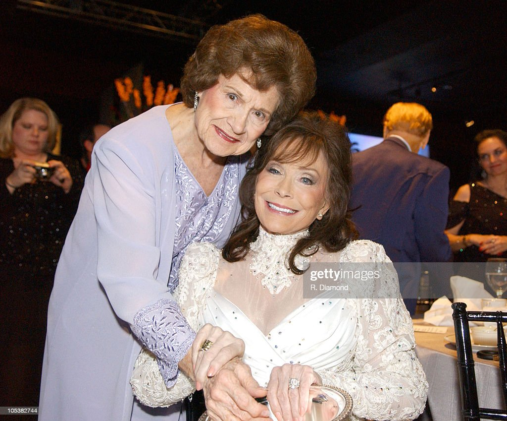 Kitty Wells and Loretta Lynn during 52nd Annual BMI Country Awards - Show at BMI in Nashville, Tennessee, United States.