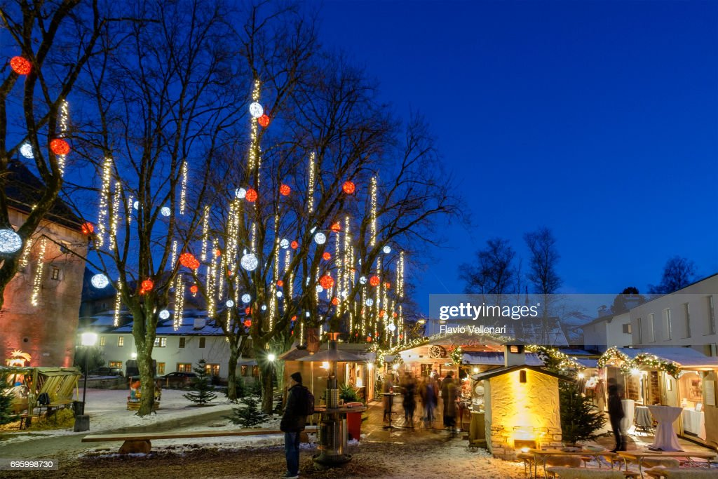 Kitzbuhel At Christmas Austria Stock Photo Getty Images