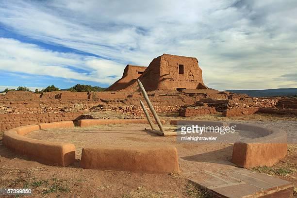 Kiva and Spanish Mission, Pecos Ruins