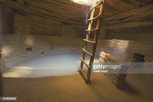 kiva at spruce tree house - mesa verde national park stock pictures, royalty-free photos & images