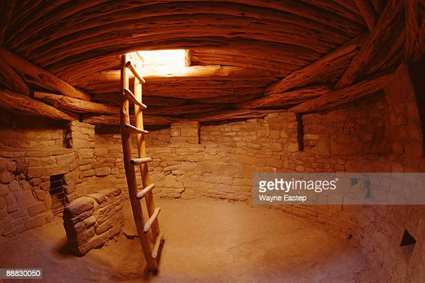 kiva at spruce tree house - cliff dwelling stock pictures, royalty-free photos & images