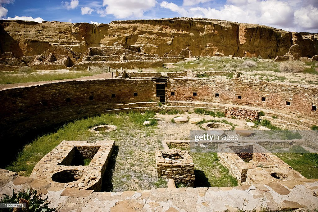 Kiva at the Chaco Culture National Park : Stock Photo