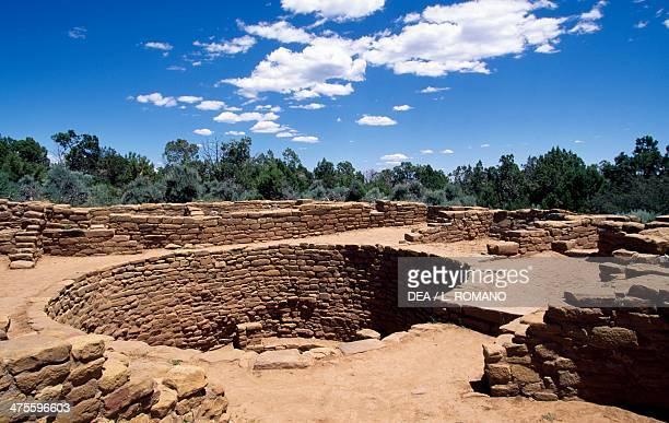 Kiva, chamber used for religious purposes or meetings, Mesa Verde National Park , Colorado, United States. Anasazi Civilisation.