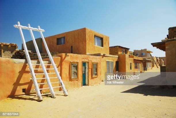 Kiva Ladders on Street in Acoma Pueblo