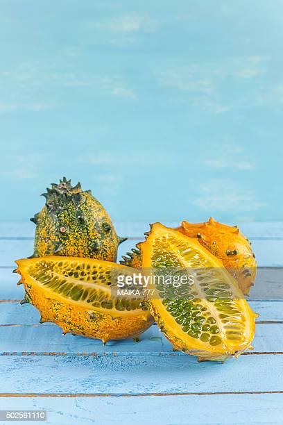 Kiwano or horned melon (Cucumis metuliferus)