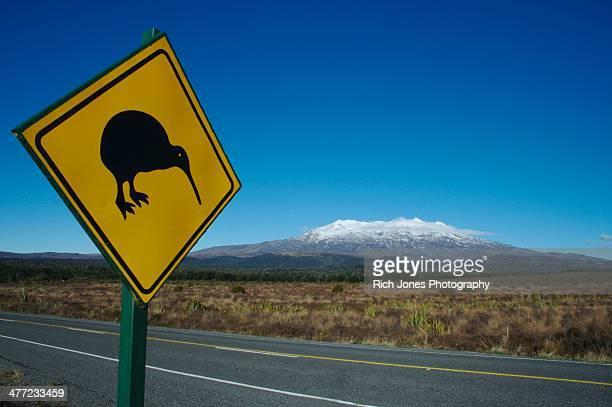 Kiwi Crossing Road Sign