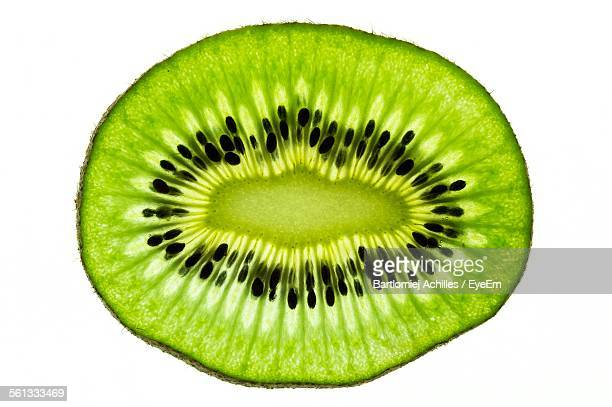 Kiwi Fruit Against White Background