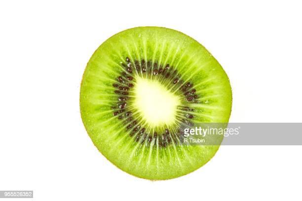 kiwi fruit inside with seeds - close up shot - kiwi fruit stock pictures, royalty-free photos & images