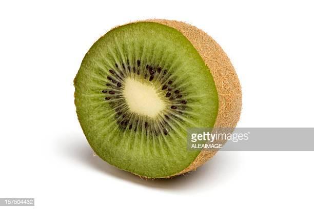 Kiwi fruit which has been cut in half