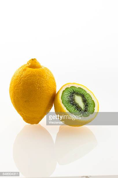 Kiwi inside lemon