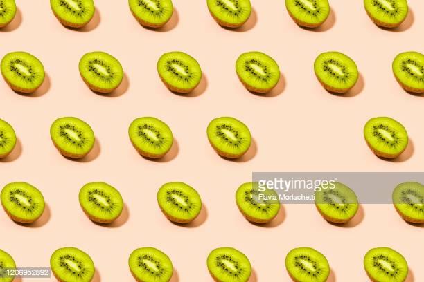 kiwi pattern - kiwi fruit stock pictures, royalty-free photos & images
