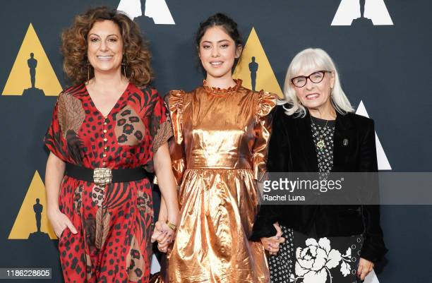 Kiwi Smith Rosa Salazar and Julia Chasman attend the Academy Nicholl Fellowships Screenwriting Awards at AMPAS Samuel Goldwyn Theater on November 07...