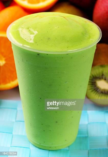 kiwi smoothie - slush stock photos and pictures