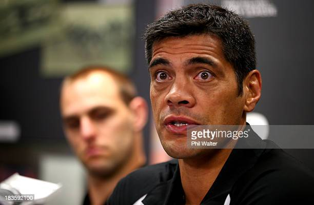 Kiwis coach Stephen Kearney speaks to the media during the New Zealand Kiwis Rugby League World Cup Squad Announcement at Rugby League House on...