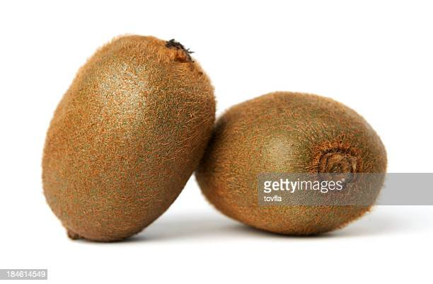 kiwis - two objects stock photos and pictures