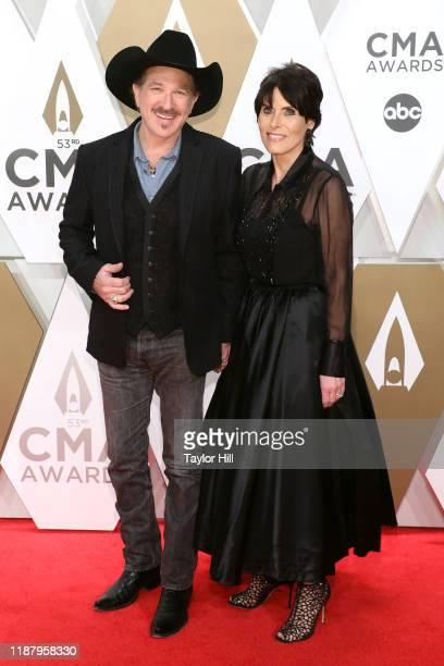 Kix Brooks and Barbara Brooks attend the 53nd annual CMA Awards at Bridgestone Arena on November 13 2019 in Nashville Tennessee