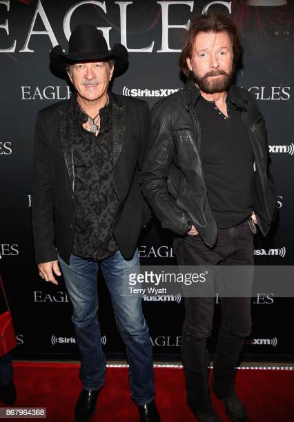 Kix Brooks and Ronnie Dunn of Brooks and Dunn attend SiriusXM presents the Eagles in their first ever concert at the Grand Ole Opry House on October...