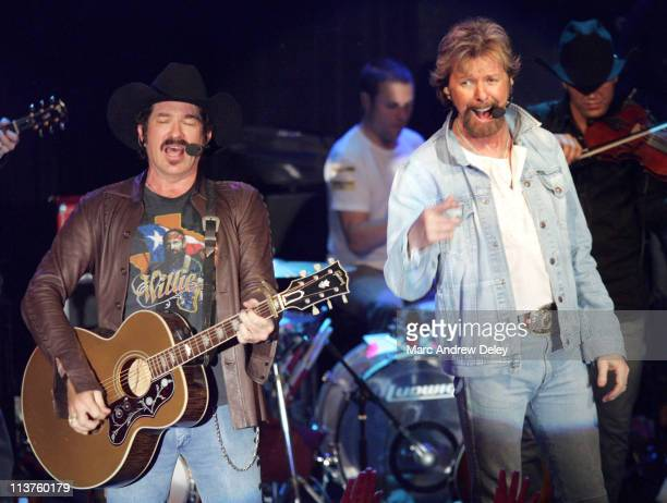Kix Brooks and Ronnie Dunn of Brooks and Dunn during Country Takes New York City Brooks and Dunn in Concert at Irving Plaza at Irving Plaza in New...