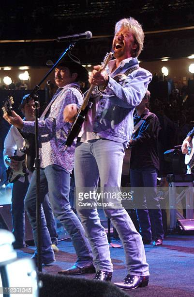 Kix Brooks and Ronnie Dunn of Brooks & Dunn during 2004 Republican National Convention - Day 3 - Inside at Madison Square Garden in New York City,...