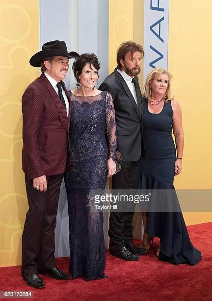 Kix Brooks Barbara Brooks Ronnie Dunn and Janine Dunn attend the 50th annual CMA Awards at the Bridgestone Arena on November 2 2016 in Nashville...