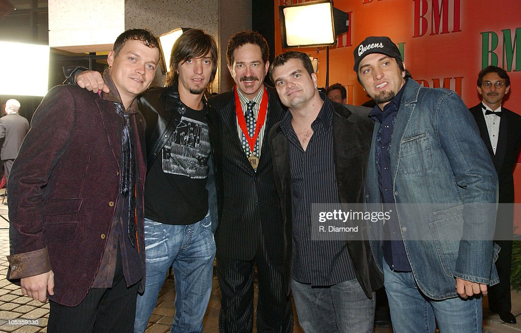 Kix Brooks (center), Brad Arnold and Chris Henderson of 3 Doors Down and The Warren Brothers