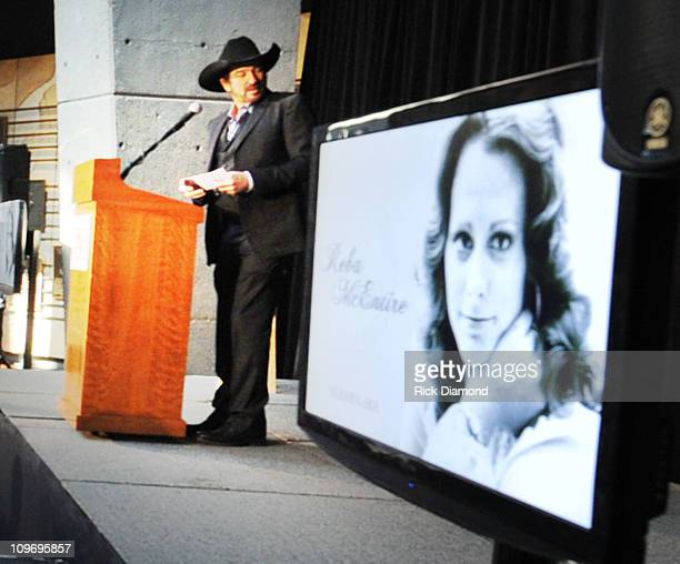 Kix Brooks of Brooks and Dunn/Host reads a email from Reba McEntire who was unable to attend during The CMA Announcement of Bobby Braddock Reba...