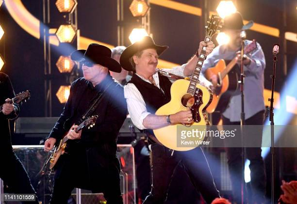 Kix Brooks of Brooks Dunn performs onstage during the 54th Academy Of Country Music Awards at MGM Grand Garden Arena on April 07 2019 in Las Vegas...