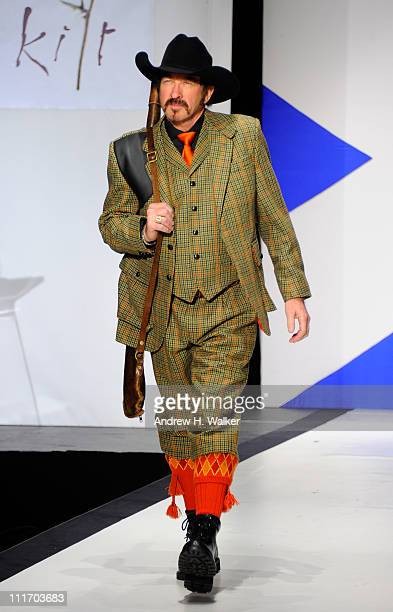 Kix Brooks of Brooks Dunn walks the runway at the 9th Annual Dressed To Kilt charity fashion show at Hammerstein Ballroom on April 5 2011 in New York...