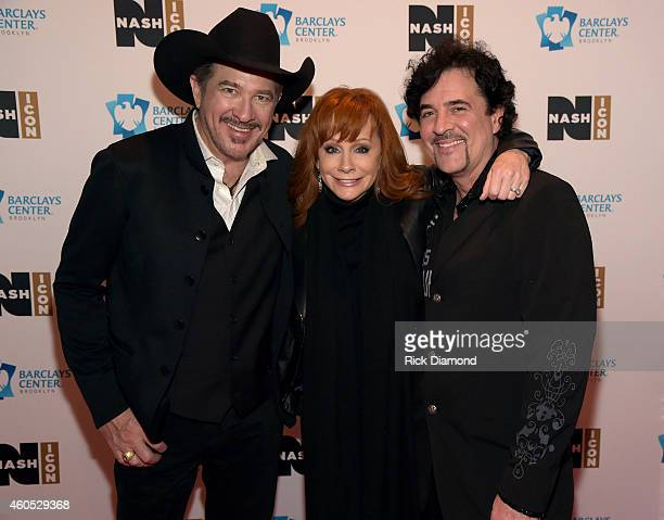 Kix Brooks Reba McEntire and Scott Borchetta attend the Inaugural Nash Icon ACC Awards postshow party honoring Reba as the first recipient of the...