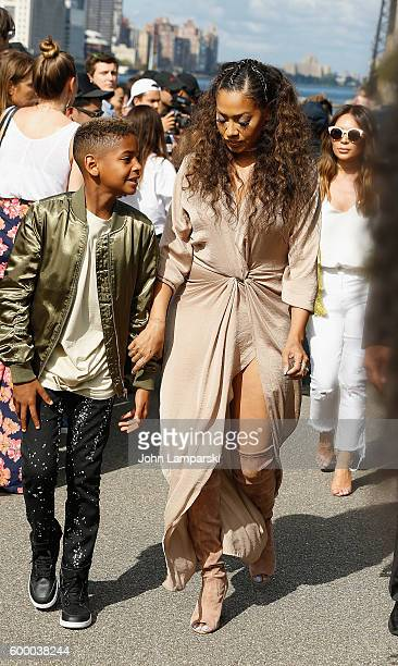 Kiyan Carmelo Anthony and La La Anthony are seen arriving to the Yeezy Season 4 fashion show on September 2016 New York Fashion Week The Shows at...