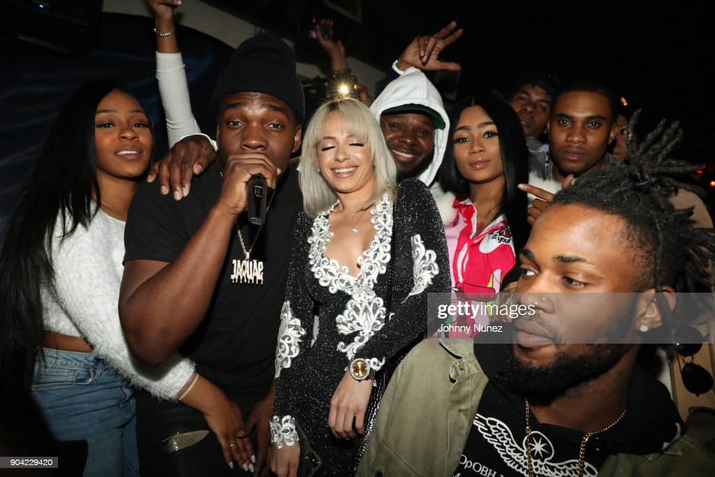 Kiyanne, Jaquae, Mariah Lynn, B Smoove, K Goddess, and Swift attend Bianca Bonnie's '10 Plus' Album Release Party at Le Souk on January 11, 2018 in New York City.
