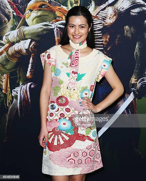 Kiyomi Vella arrives at the Sydney Premiere of Teenage Mutant Ninja Turtles at The Entertainment Quarter on September 7 2014 in Sydney Australia