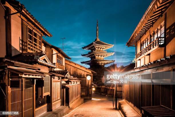 kiyomizu pagoda kyoto - tempio foto e immagini stock