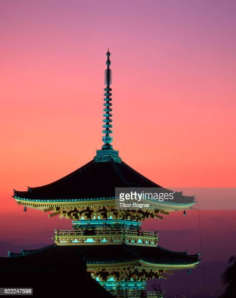 Kiyomizu Temple at Sunset